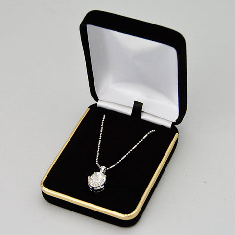Velvet pendant box - JewelryPackagingBox.com