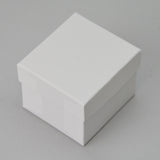 Velour double ring box - JewelryPackagingBox.com