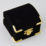 Treasure Chest Ring Box Black - JewelryPackagingBox.com