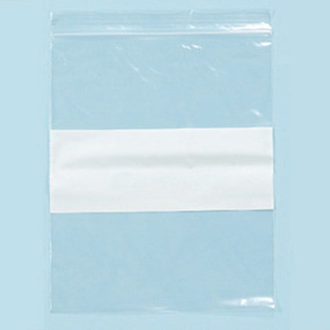 "Ziplock bag white block 3""X 4"" - JewelryPackagingBox.com"