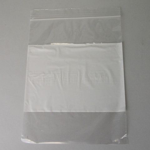 "Plastic bag 9"" x 12"" white block 2 mil. - JewelryPackagingBox.com"