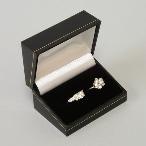 Double Ring Box - JewelryPackagingBox.com