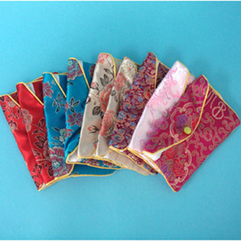 "Silk Pouches  3"" x 2 1/2"" - JewelryPackagingBox.com"