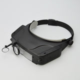 Headset magnifier with 3 lens and 2 LED lights - JewelryPackagingBox.com