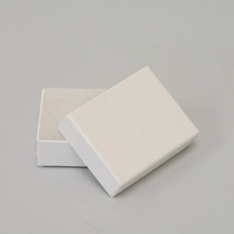 "White Cotton Filled Box 2"" x 1 1/2"" pack of 100 - JewelryPackagingBox.com"