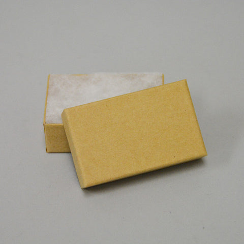 "Kraft Cotton Filled Box 2 1/2"" x 1 1/2"" Pack of 100 - JewelryPackagingBox.com"