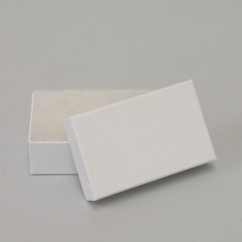 "White Cotton Filled Box 2 1/2"" x 1 1/2"" pack of 100 - JewelryPackagingBox.com"