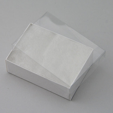 Clear View Cotton Filled Box Pack of 100 - JewelryPackagingBox.com