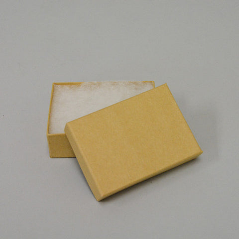 "Kraft Cotton Filled Box 3 1/8"" x 2 1/8""Pack of 100 - JewelryPackagingBox.com"