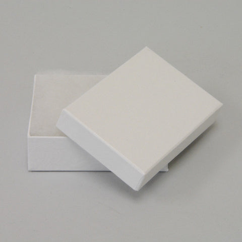 "White Cotton Filled Box 3 1/8"" x 2 1/8"" pack of 100 - JewelryPackagingBox.com"