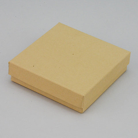 "Kraft Cotton Filled Box 3 1/2"" x 3 1/2"" Pack of 100 - JewelryPackagingBox.com"