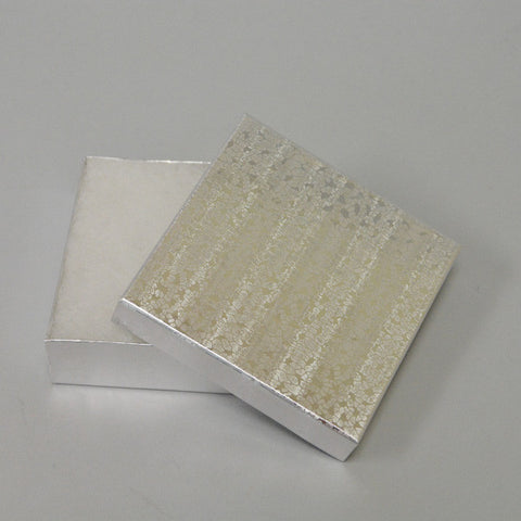 Silver Cotton Filled Box Pack of 100 - JewelryPackagingBox.com