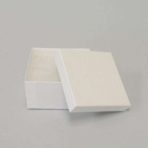 "White Cotton Filled Box 3 1/2"" x 3 1/2"" x 2"" pack of 100 - JewelryPackagingBox.com"