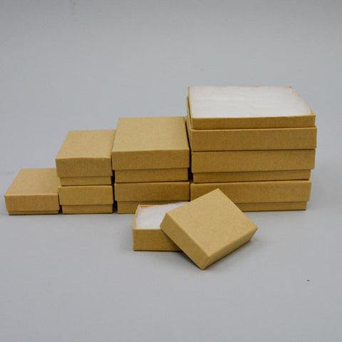 Assorted Sizes Kraft Boxes Pack of 40 - JewelryPackagingBox.com