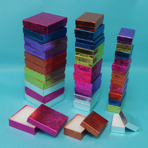 Assorted Sizes and colors Boxes Pack of 36 - JewelryPackagingBox.com
