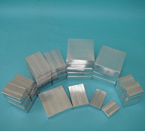 Assorted Sizes Silver Boxes Pack of 40 - JewelryPackagingBox.com