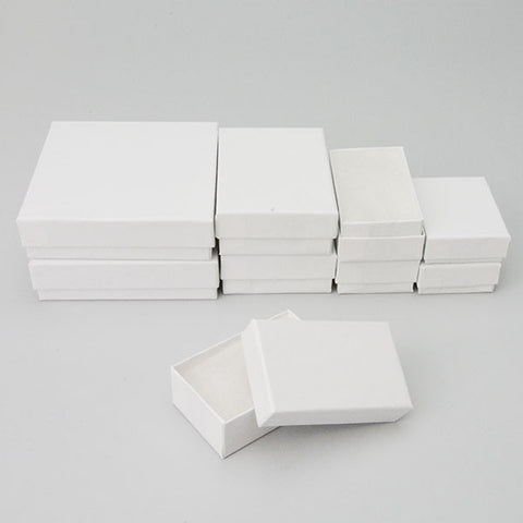 Assorted Sizes White Boxes Pack of 40 - JewelryPackagingBox.com