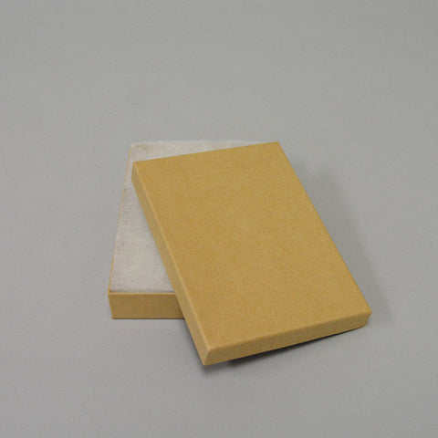 "Kraft Cotton Filled Box  5 1/4"" x 3 3/4"" Pack of 100 - JewelryPackagingBox.com"