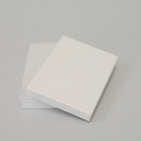 "White Cotton Filled Box 5 1/4"" x 3 3/4"" pack of 100 - JewelryPackagingBox.com"
