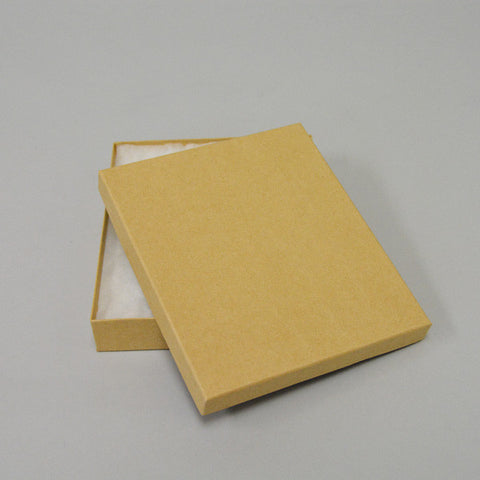 "Kraft Cotton Filled Box 6"" x 5"" Pack of 100 - JewelryPackagingBox.com"