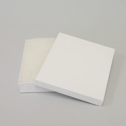 "White Cotton Filled Box 6"" x 5"" pack of 100 - JewelryPackagingBox.com"