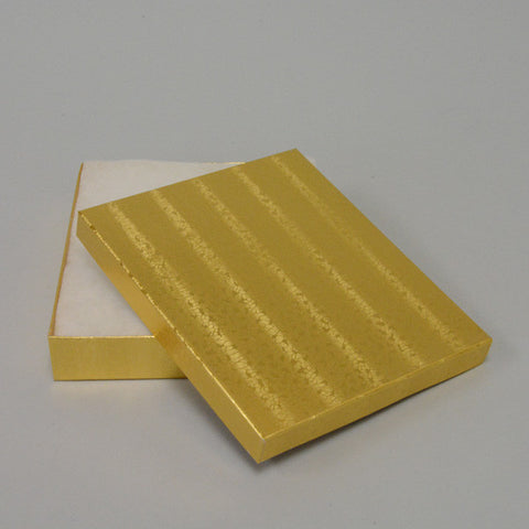 "Gold Cotton Filled Box 6"" x 5"" pack of 100 - JewelryPackagingBox.com"