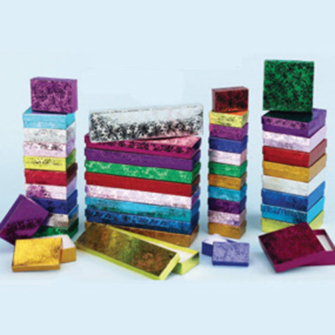 Assorted Sizes and Colors Boxes Pack of 40 - JewelryPackagingBox.com