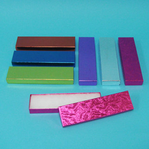 "Assorted Colors Cotton Filled Box 8"" x 2"" Pack of 100 - JewelryPackagingBox.com"
