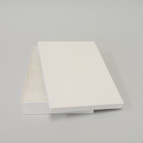 "White Cotton Filled Jewelry Boxes 8"" X 5 1/2"" - JewelryPackagingBox.com"
