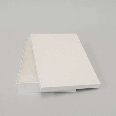 "White Cotton Filled Box 9"" X 6"" Each - JewelryPackagingBox.com"