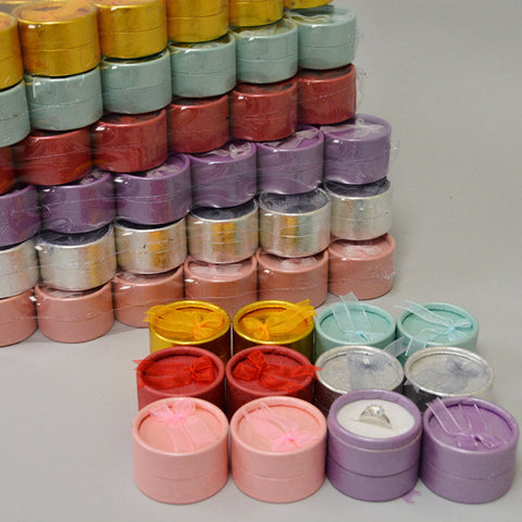 Multi Color Paper Ring Box - JewelryPackagingBox.com
