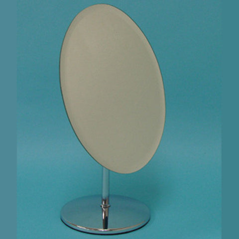 "MIRROR CHROME OVAL SHAPE 7""x 9.5"" OVERALL 12.5"" H - JewelryPackagingBox.com"