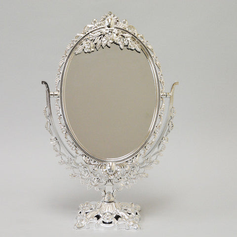 "Mirror 2 Sided Silver 16"" H"