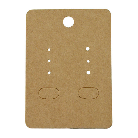 Kraft Paper Earring Card - JewelryPackagingBox.com