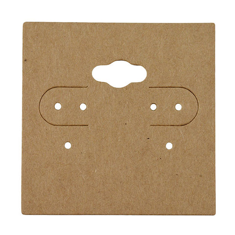 "Kraft Paper Earring Card 2"" x 2"" - JewelryPackagingBox.com"