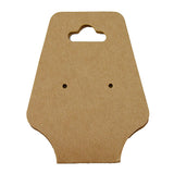 Kraft Paper Earring/Necklace Card - JewelryPackagingBox.com