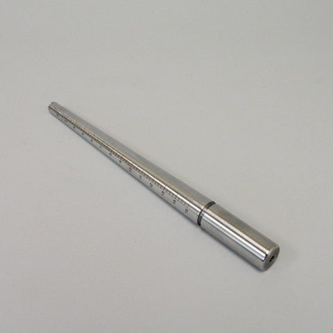 Metal ring mandrel, no groove 1-15 - JewelryPackagingBox.com