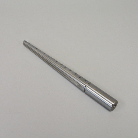 Metal ring mandrel, With groove - JewelryPackagingBox.com