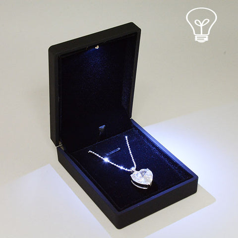 Pendant box with LED light - JewelryPackagingBox.com