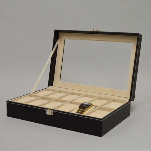 "Watch Case 12"" X 8"" X 3 1/4"" - JewelryPackagingBox.com"