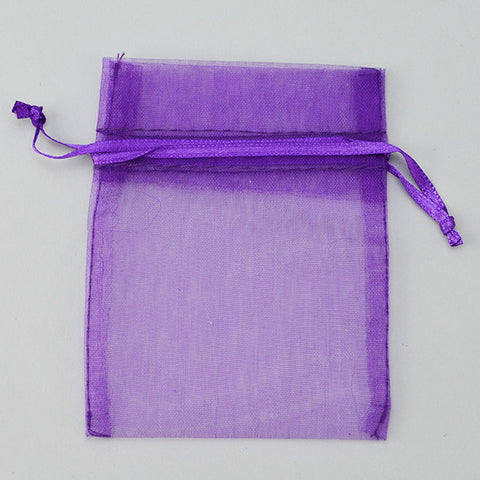 "Purple Organza Bag 2 3/4"" X 3 1/2"" 100/PK - JewelryPackagingBox.com"