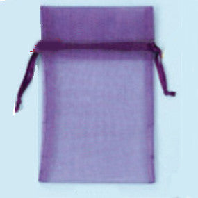"Purple Organza Bag 4""X 6"" 50/PK - JewelryPackagingBox.com"