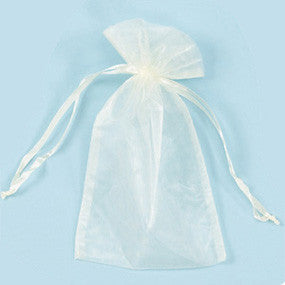 "Ivory Organza Bag 6"" x 10"" - JewelryPackagingBox.com"