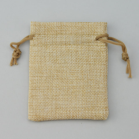 "Burlap Drawstring Pouch 2 3/4"" x 3 1/2"" - JewelryPackagingBox.com"