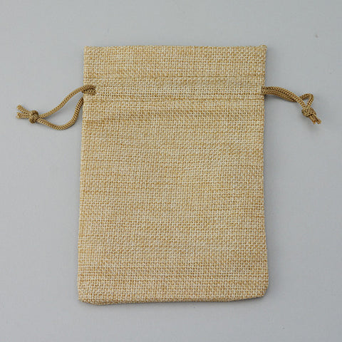 "Burlap Drawstring Pouch 4"" x 5 1/2"" - JewelryPackagingBox.com"
