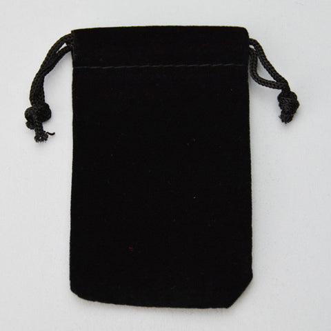 POUCH SUEDINE 2 X 3 BLACK 25/PK - JewelryPackagingBox.com