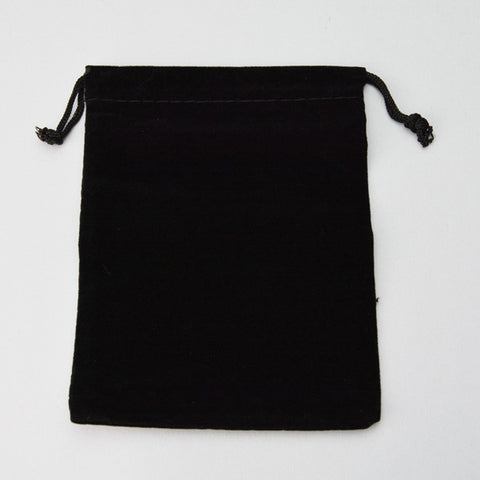 Black Velvet Pouch 5 x 5 1/2 25/pk - JewelryPackagingBox.com