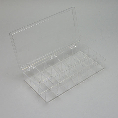 "Flexible plastic storage case  8"" X 4"""