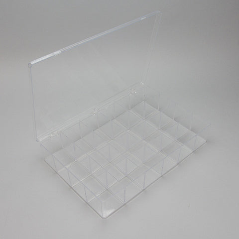 Flexible Plastic storage case 24 Compartments - JewelryPackagingBox.com