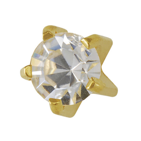 Mini April Birthstone Tiffany setting Gold Plated - JewelryPackagingBox.com